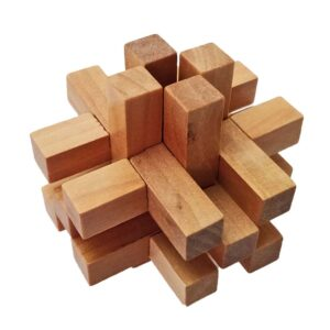 Wooden Brain Teasers for Adults And Kids 1 - Logic Games Gift Puzzle Cross Out Tricky Games Wood IQ Puzzles Challenging