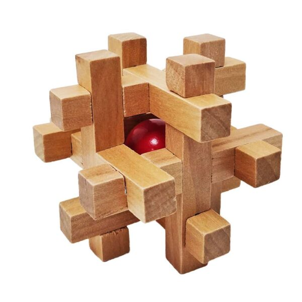 Wooden Brain Teasers for Adults And Kids 2 - Logic Games Gift Puzzle Cross Out Tricky Games Wood IQ Puzzles Challenging