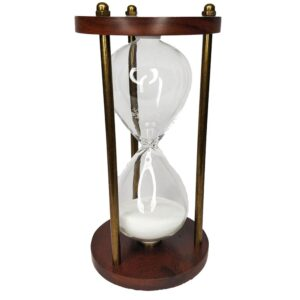 Wooden and Brass Round Sand Timer Hour Glass