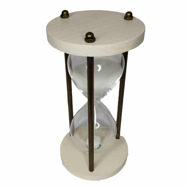 Wooden and Brass Round Sand Timer Hourglass