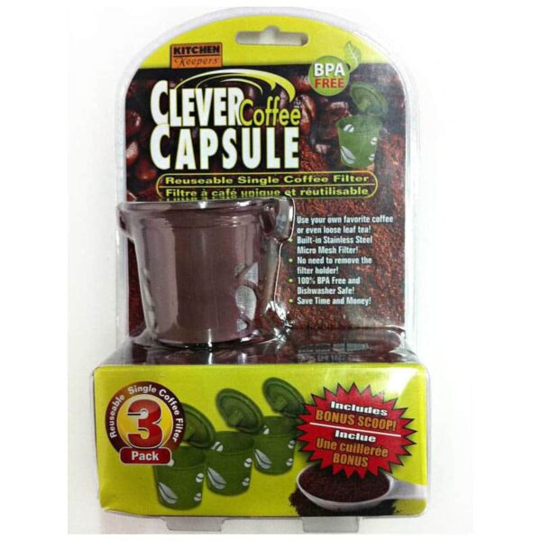 Clever Coffee Reusable Capsule Pack Of 3 For Coffee Machines