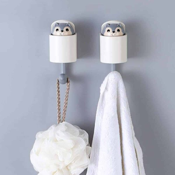 Cute Squirrel Hooks Make Chores Fun Hanger Hook Multifunction Heavy Duty Wall Hook for Hanging Bedroom Bathroom Kitchen Dual Self Adhesive Screw Applicable