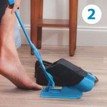 Sock Slider - The Easy on, Easy off Sock Aid Kit & Shoe Horn Pain Free No Bending, Stretching or Straining System that Packs up for Convenient Travel, As Seen on TV