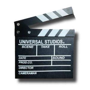 Movie Film Clapper Board, Hollywood Clapper Board Wooden Film Movie Clapboard Accessory Black & White (1)