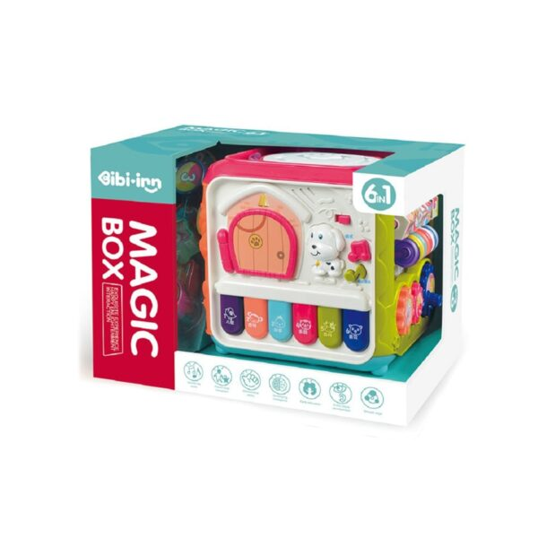 6 IN 1 BABY EDUCATIONAL MAGIC BOX MUSICAL LEARNING CUBE TOYS