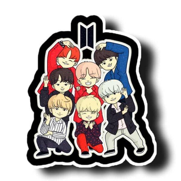 BTS Toons Vinyl Sticker