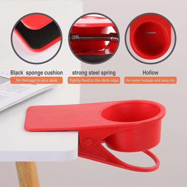 Cup Holder Clip On Cup Holder Clamp for Desk