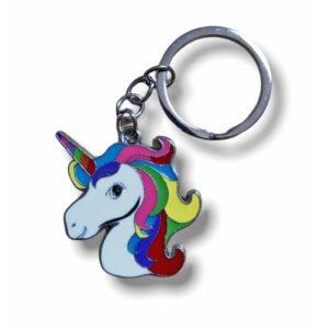 Cute Unicorn A Metal Keychain