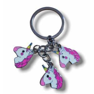 Cute Unicorn D Metal Keychain