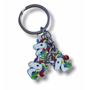 Cute Unicorn E Metal Keychain