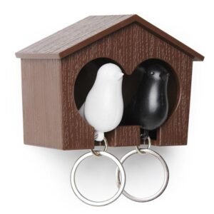 Duo Sparrow Key Rings & Holder
