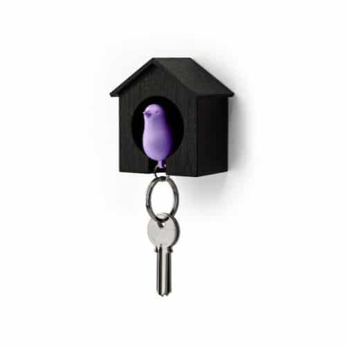 Sparrow Keyring Holder with Whistle