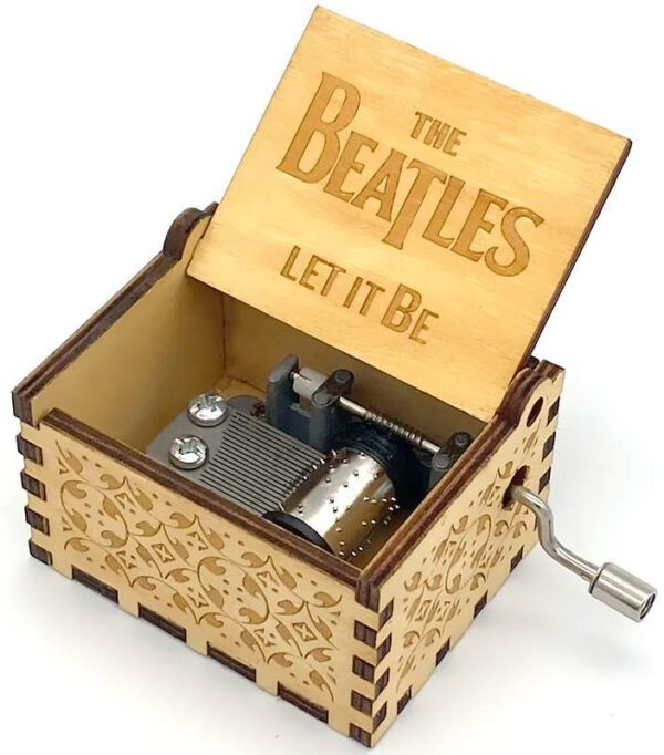 The Beatles - Let It Be Engraved wooden music box