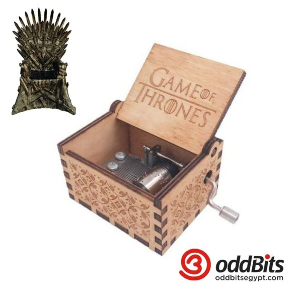 Game Of Thrones Engraved wooden music box