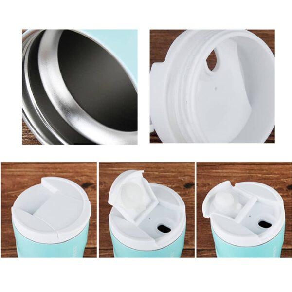 480ml Spiral Shape Stainless Steel Thermal Mug vacuum flask Cup Coffee