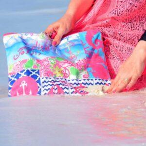 Ana W Al-Bahr Pouch Zipper Bag With Pockets By Shakasta