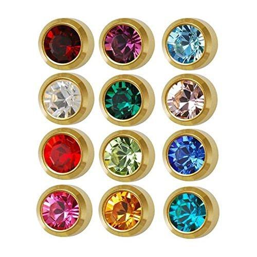 Caress 24 Carat Gold Plated Earrings - Bezel Style