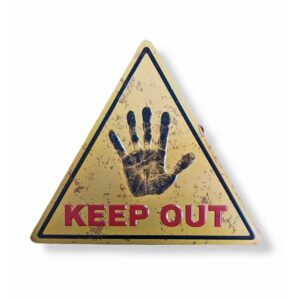 Embossed Metal Tri Poster Keep Out