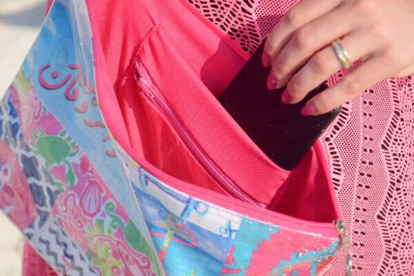 Flamingo Small Pouch Zipper Bag With Pockets By Shakasta