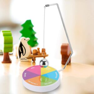 Magnetic Decision Maker Ball Swing Pendulum Office Desk Decoration Toy Gift