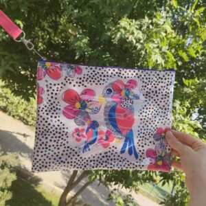 Parrot Small Pouch Zipper Bag With Pockets By Shakasta