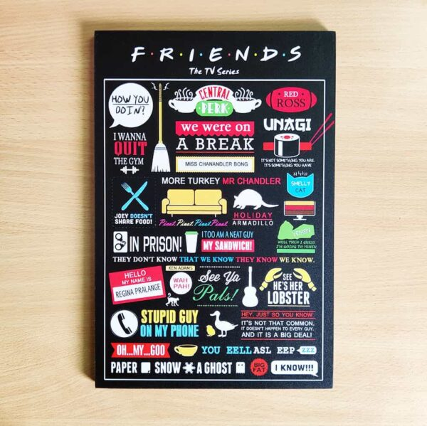 Friends Wooden Wall Poster