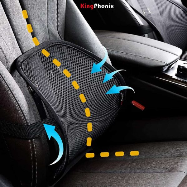 Lumbar Support with Breathable Mesh, Suit for Car, Office Chair
