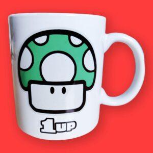 Mario Mushroom Ceramic Mug