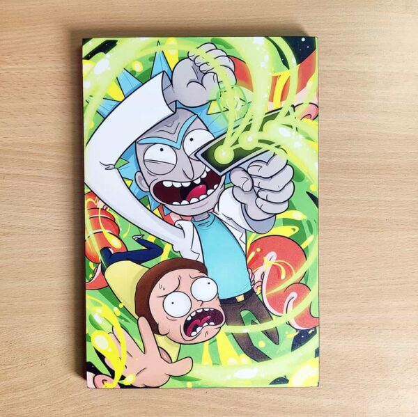 Rick And Morty Wooden Wall Poster