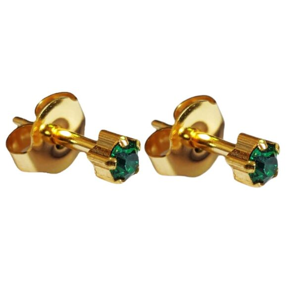 Caress 24 Carat Gold Plated Earrings - Claw Style