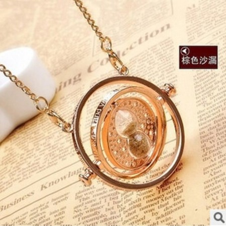 Harry Potter Hermione Time Turner Necklace Hourglass Pendant