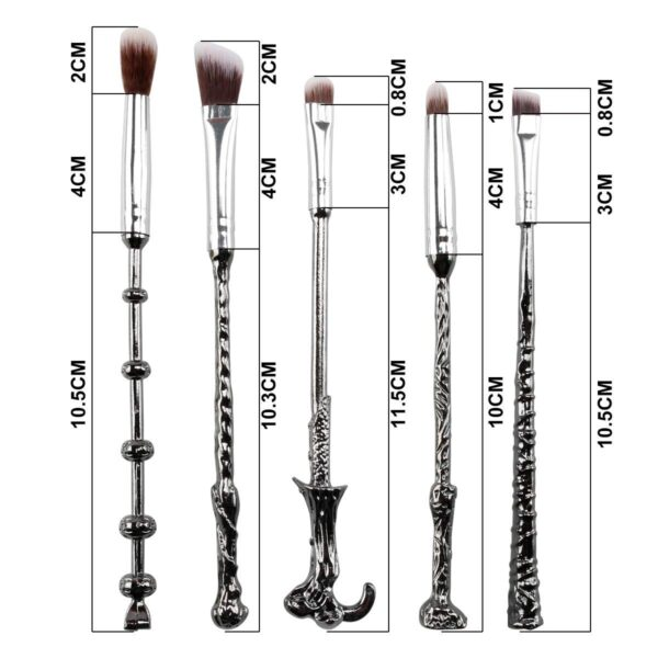 Harry Potter Makeup Brush, Ithyes Wizard Magic Wand Brush Gift Set 5 Pieces Nice Hair Bristle