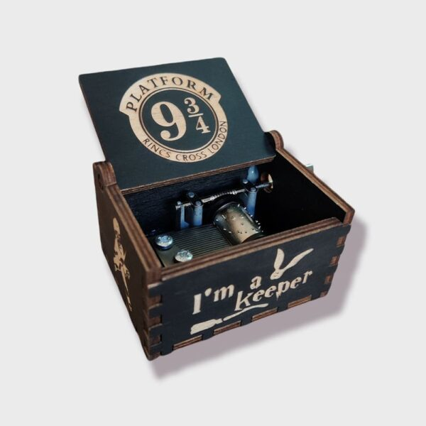 Special Edition Harry Potter Hogwarts Express Engraved wooden music box