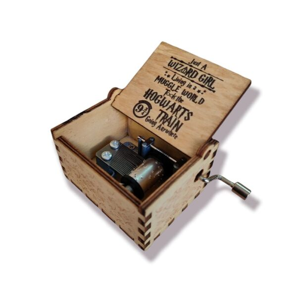 Special Edition Harry Potter Wizard Girl Engraved wooden music box